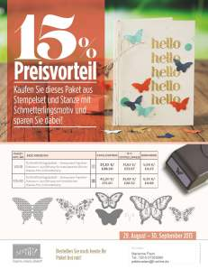 Schmetterling Produktpaket